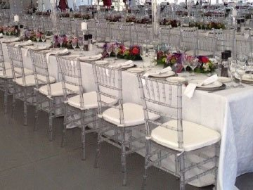 Tiffany chairs at event in east london